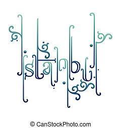 Creative Istanbul Typography
