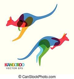 Creative Kangaroo Animal Design, Vector eps 10