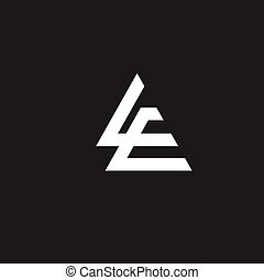 creative L and E letter vector - L and E letter with...