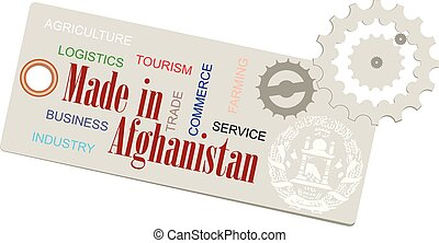 Creative Label Made in Afghanistan
