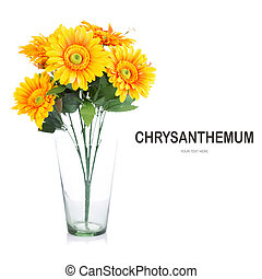 Creative layout made of Chrysanthemum flower