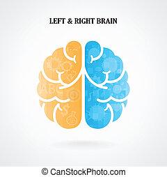 Creative left and right brain symbol - Creative left brain...