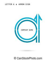 Creative letter A icon abstract logo design vector template....