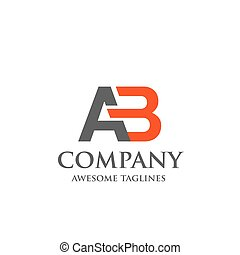 creative letter AB logo. Abstract business logo design ...