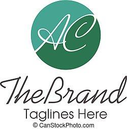 letter ac handwritten style logo - creative letter ac...