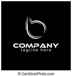 Creative Letter B for technology logo