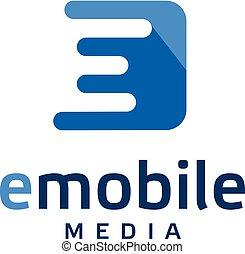 creative letter E square logo