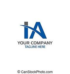 Creative Letter I and A Logo design
