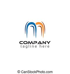 Creative Letter M for technology logo