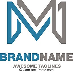 creative letter M logo, letter M Abstract business logo...
