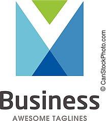 creative letter M square logo