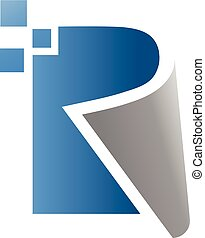 creative letter r vector - creative letter r data technology...