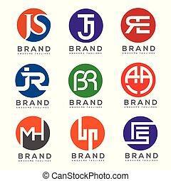 creative letter with circle logo design vector