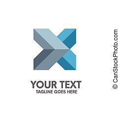 creative letter X logo. Abstract business logo design...