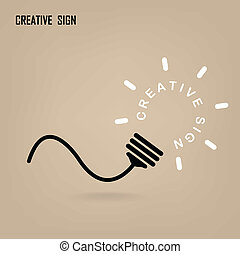 Creative light bulb Idea concept background design for ...