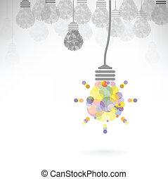 Creative light bulb Idea concept background