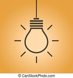 Creative light bulb idea concept sign
