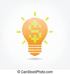 Creative light bulb symbol