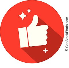 Creative Like Button Vector