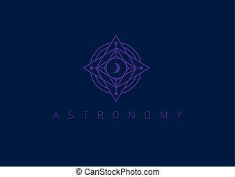 Creative Line logo on the theme of astronomy