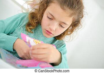 Creative little girl