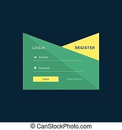 creative login template design in geometric style
