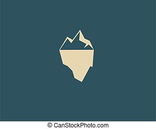Creative logo iceberg icon for business company