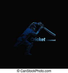 Creative logo of cricket vector illustration