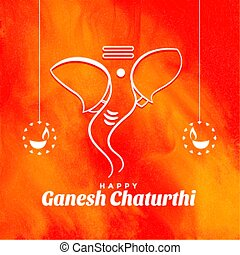 creative lord ganesh chaturthi festival event wishes background