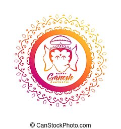 creative lord ganesha design for ganesh chaturthi