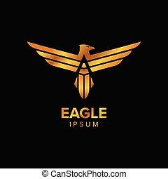 Creative Luxury Eagle Logo Design concept