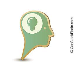 Creative man. Label sticker. Modern concept