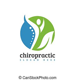 Creative Medical Chiropractic Concept Logo Design Template, chiropractic logo spine spinal care Chiropractic massage back pain and osteopathy icon