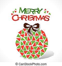 merry Christmas ball design