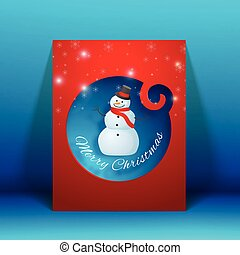 Creative Merry Christmas Greeting Card