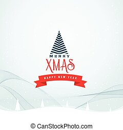creative merry christmas greeting card design background