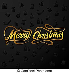 creative merry christmas greeting design