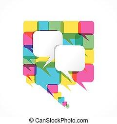 creative message bubble design