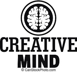 Creative mind logo, simple style