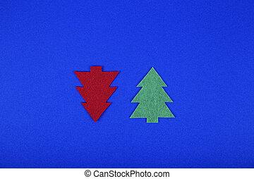 Creative minimal Christmas art.