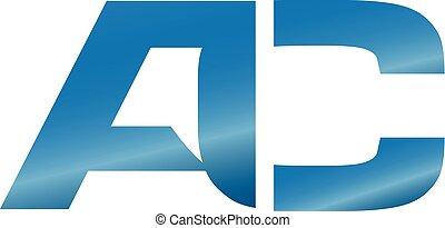 creative modern AC letter logo vector