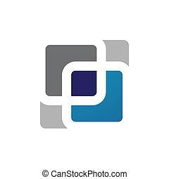 creative modern border square logo frame on a white background