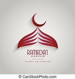 creative mosque design for ramadan kareem festival
