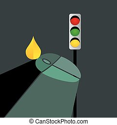 mouse with fuel drop traffic signal