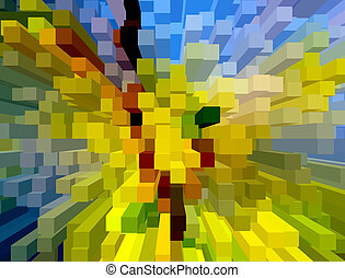 creative multicolored abstraction