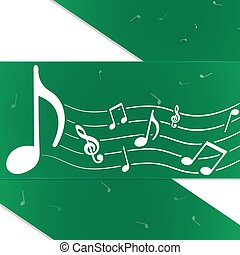 Creative music notes green
