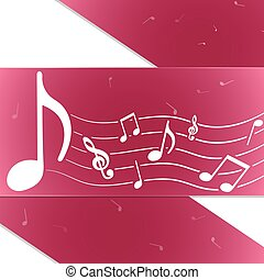 Creative music notes purple