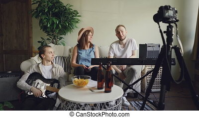 Creative musicians are recording video for online blog...