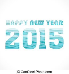 new year 2015 greeting wave pattern