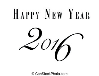 creative new year 2016 design.